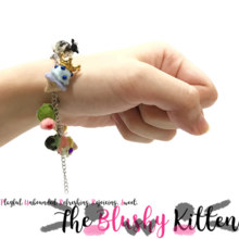 Ice Cream Cones Charm Armbånd - Filt Miniature Tilbehør Limited Edition af The Blushy Kitten {READY TO SHIP}