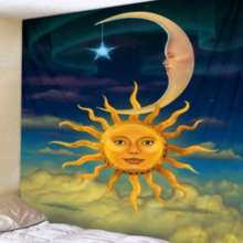 Fabric Wall Hanging Sun and Moon