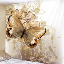 Fabric Wall Hanging/Throw Vintage Butterfly