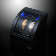 LUHW wooden remote control automatic mechanical watch winder LED light function shaker LU23001CB
