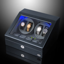 LUHW wooden remote control automatic mechanical watch winder LED light function shaker LU31004CB