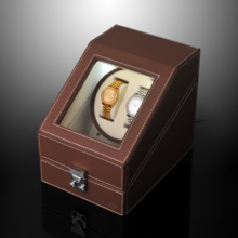SPI leather single turn automatic mechanical watch winder LED light function shaker SP43012
