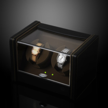 SPI leather double turn AC / battery dual-use automatic mechanical watch winder shaker SP43022