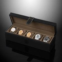 Leather Velcro type 5 watch storage box watch list collection box SE55005