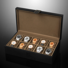 Leather Velcro 10 grid watch storage box watch collection box SE55010