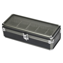 Es'prima open window with lock 5 grid aluminum alloy watch storage box name table collection box SE64015GN