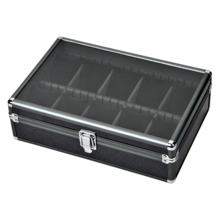 Es'prima open window with lock 10 grid aluminum alloy watch storage box name table collection box SE64020GN