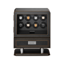LUHW leather 8 grid automatic mechanical watch winder watch cabinet LED light function shaker table cabinet LU71008