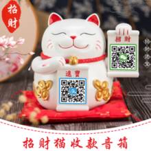 Lucky Cat Speaker Receipts Bluetooth Speakers New Computer Audio Payments Received Receipts Broadcasting Artifacts