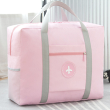 New Japanese folding travel storage bag travel bag solid color small fresh round trolley bag