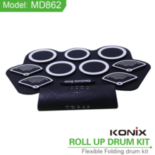 Hand roll drum portable electronic drum lithium battery charging drum silicone portable Bluetooth