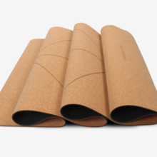 Log Yoga Mat Manufacturer Widening Thicken Fitness Mat Slip Unscented Cork Yoga Mat Wood Color
