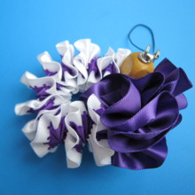 Ribbon lay strap (purple)