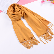 Fashion wild thin section solid color scarf warm labeling long scarf bib shawl fringed sheep scarf