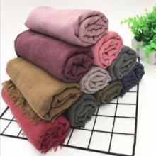 Solid color linen scarf 02831