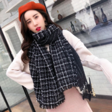Imitation cashmere scarf Europe and the United States trend fashion shawl thick warm small fragrance style scarf