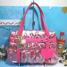 70% New article with warranty Samantha Thavasa New York Limited Heart with charm Glitter Kushuksh Tote Bag Bag Pinkish
