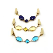 Korean fashion clothing glass crystal sweater clip