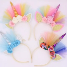 Halloween Unicorn Headband Children's Party Ball Hair Accessories Hair Strap