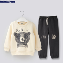 Children's suits autumn and winter baby clothes children's sweaters boys and girls baby sports sports minizone
