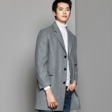 Winter new men's wool coat casual stalls solid color blazer youth woolen coat on behalf of hair 8240
