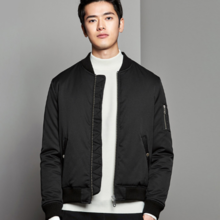 2018 winter new casual solid color warm cotton clothing men's thick flight jacket jacket a generation of 8186