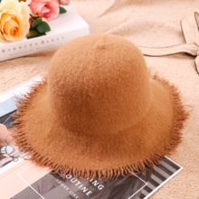 Fringed wool hat Korean version of the tide fashion ladies big fisherman hat outdoor warm hat