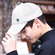 New men's small logo summer simple casual cotton baseball cap fashion Korean sports sun hat