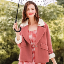 Lamb hair short coat coat lady wool coat female 97055