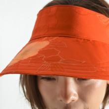 Kimono remake sun visor camellia