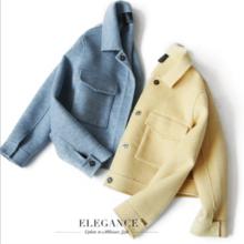 ZOJ handmade double-faced woolen coat short