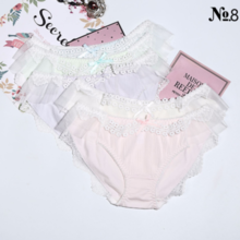 NO.8 Princess Fan Japanese sweet pearl silky milk silk girl underwear low waist ladies underwear briefs