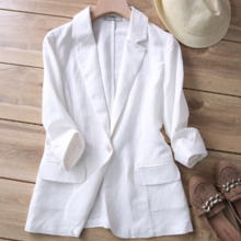 ZOJ Japanese high-end linen small suit female jacket 2019 spring and summer Slim ladies small suit factory