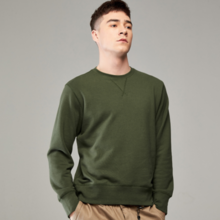 Army Green Casual Long Sleeve T-Shirt Men's Sweater