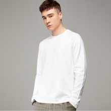 2019 spring new men's solid color long-sleeved t-shirt men's casual round neck shirt