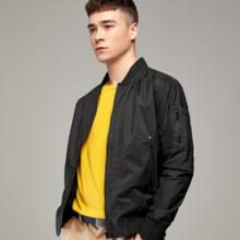 Men's jacket 2019 new spring loose solid color jacket 8258
