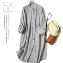 ZOJ Japanese style hand-pressed pleated cotton shirt long women's shirt 2019