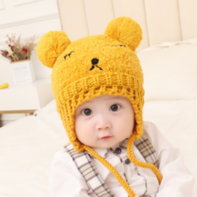 Korean children's embroidery wool cap