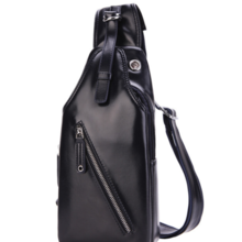 Casual couple models men's chest bag shoulder bag