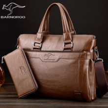 Barno kangaroo men's bag fashion Messenger bag quality PU shoulder bag trend handbag business bag