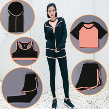 Autumn and winter new slim casual running sportswear suit