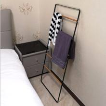 日系铁艺可拆卸卧室置物架晾衣架挂衣架多层铁艺架