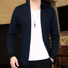 New Korean Slim Men's Knit Long Sleeve Cardigan