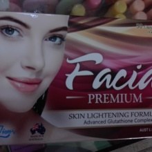 Facia Premium most powerful antioxidant Glutathione & other ingredients for skin
