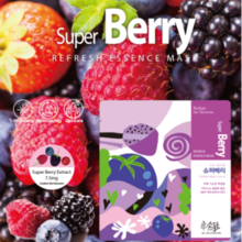 Sodam The Blossom Super Berry Refresh Essence Mask 1box(10EA)