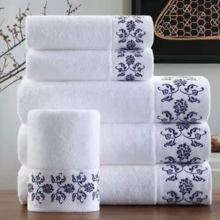 Five-star hotel with white towel cotton