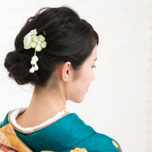 One piece Japanese kimono kimono flower hair ornament everyday use pearl comb kanzasi Watmosphere Wat mosfia [hair accessories second party kimono kimono for kimono tomose graduation ceremony entrance ceremony hair arrangement pearl]