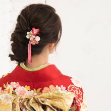 Kanzashi Kimono flower hair ornament everyday use Pearl comb kanzasi Watmosphere Watmosfia [Hair accessories second party kimono ceremonial dress sleeves graduation entrance ceremony hair arrangement pearl]