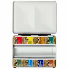 Holbein Solid Watercolor Paint Artist Pan Color 8 Colors Set Metal Box PN688 Half Pan