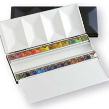 Holbein Solid Watercolor Paint Artist Pan Color Metal Box 24 Colors Set PN682 2682